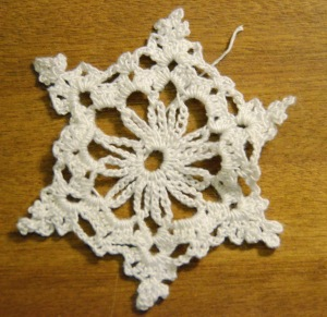 Crochet thread snowflake