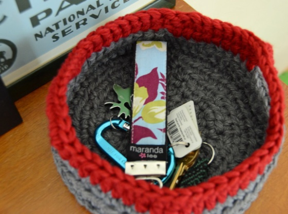 WEB crochet basket 2