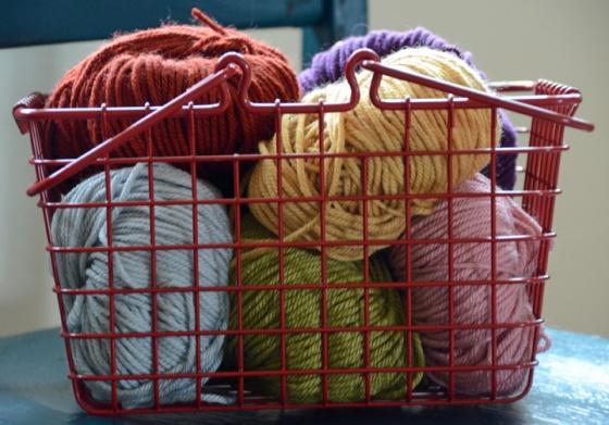 Basket of yarn