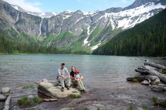 Fam at avalanche lake