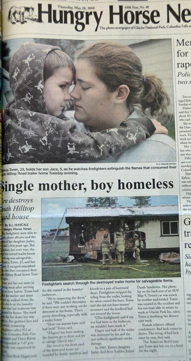 WEB Single mom fire