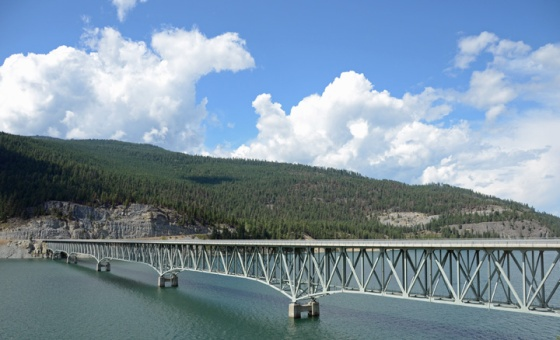 Lake koocanusa bridge